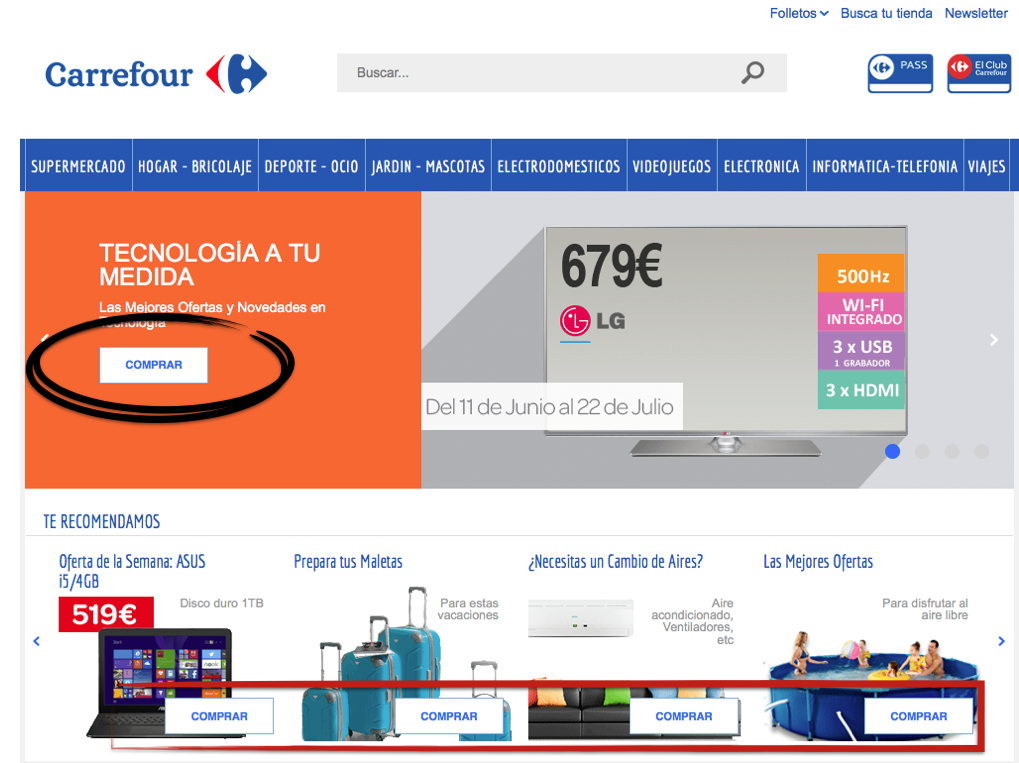 Carrefour call to action
