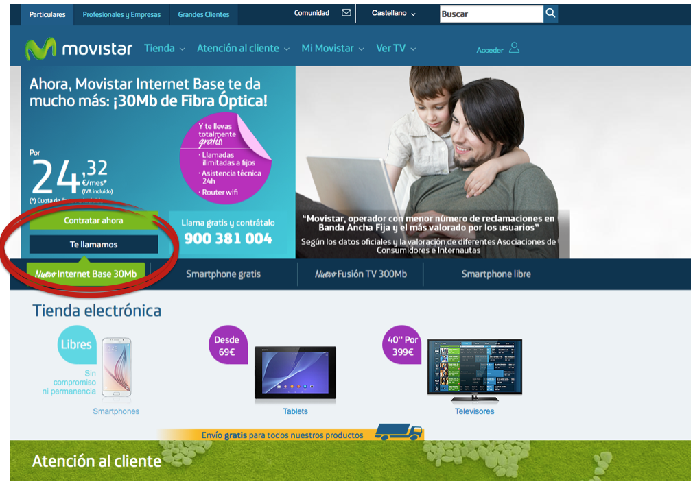 Call to action movistar