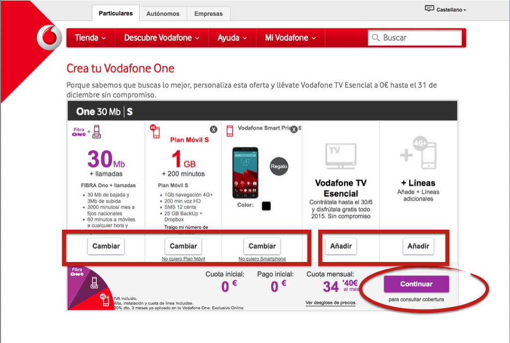 Vodafone call to action