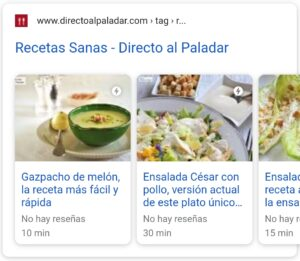 Tipos de Rich Snippets: Carrusel