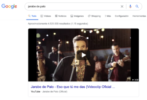 formato vídeo featured snippets