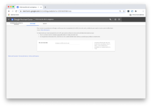 Configurar sitio web Google Merchant Center
